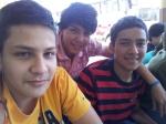 Josué, Iván y Alex, compañeros de equipo