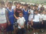 Con alumnos de escuela de Salvias
