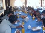 Desayunando en Cuenca