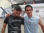 Carli Aguilar y Julio Ortega