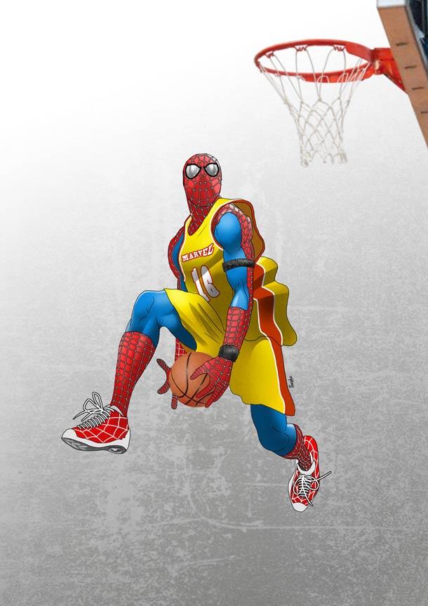 Resultado de imagen de spiderman baloncesto